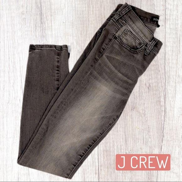 J CREW Midrise Skinny Jean - Gray Wash - Size 24